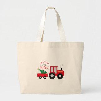 Santa's Lil' Buddy Large Tote Bag