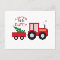 Santa's Lil' Buddy Postcard