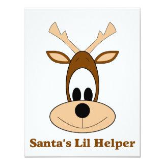 Santa's lil helper reindeer Christmas gifts & tees Card