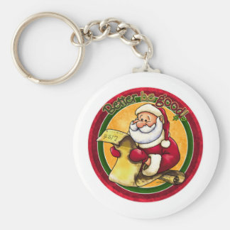 Santas List - Better be Good Basic Round Button Keychain