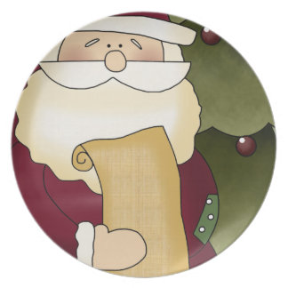 Santa's List Christmas Decorative Plate