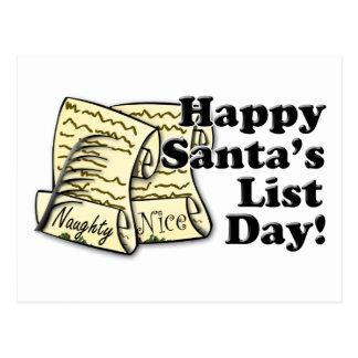 Santa's List Day Postcard