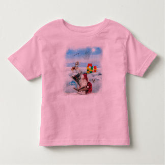 Santa's List Girls T Toddler T-shirt