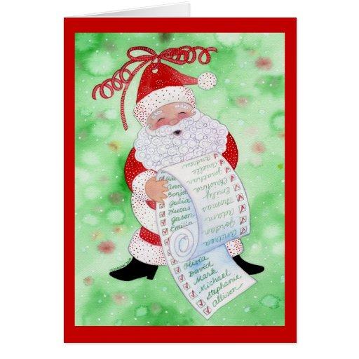 Santa's List Greeting Card #2