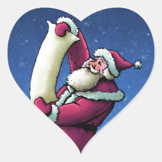 santa's list happy holiday illustration heart sticker