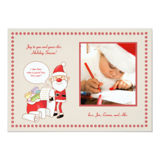Santa's List Holiday Photo Card Personalized Invites