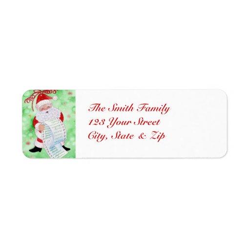 Santa's List Label