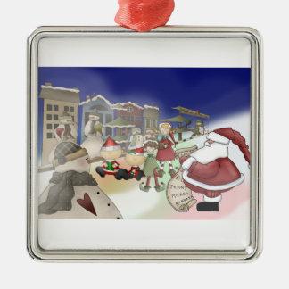 Santa's List Metal Ornament