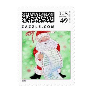 Santa's List Postage Stamps