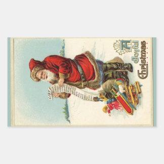 Santa's List Rectangular Sticker