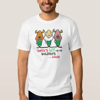 Santa's Lit for the Holidays T-shirt