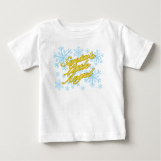Santa's Little Angel (infant - light shirts) Baby T-Shirt