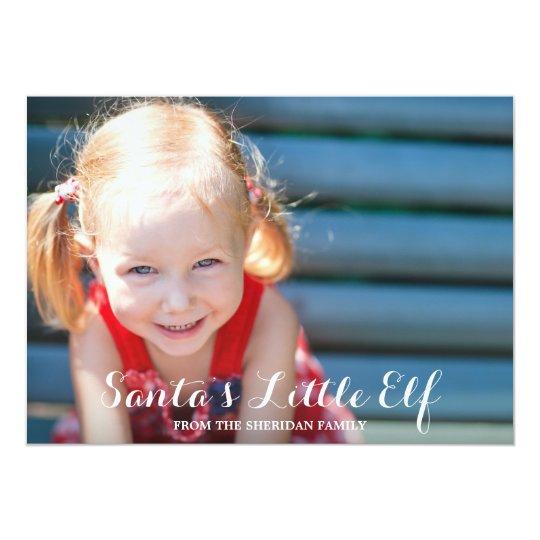 Santa's Little Elf Photo Card