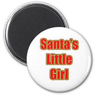 Santa's Little Girl 2 Inch Round Magnet