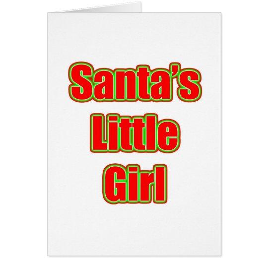 Santa's Little Girl Card
