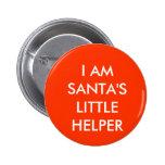 Santa's Little Helper 2 Inch Round Button