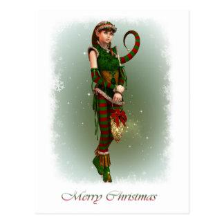 Santas Little Helper Amy Postcard