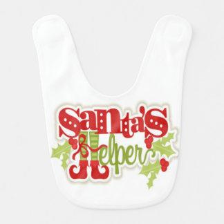 Santas Little Helper Baby Bib