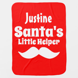 Santa's Little Helper Baby Blanket