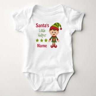 Santa's Little Helper Baby Jersey Bodysuit