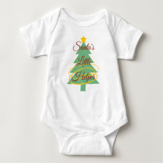 Santa's Little Helper Baby Top