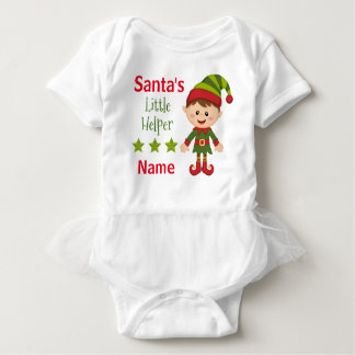 Santa's Little Helper Baby Tutu Bodysuit