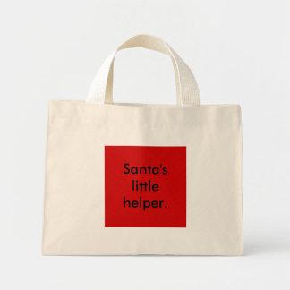 Santa's little helper. tote bag