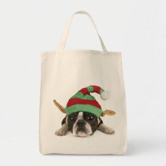 Santa's Little Helper Bag!  Dog Lovers Bag! Grocery Tote Bag