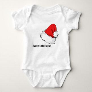 Santa's Little Helper bodysuit, feat. pretty hat! Baby Bodysuit