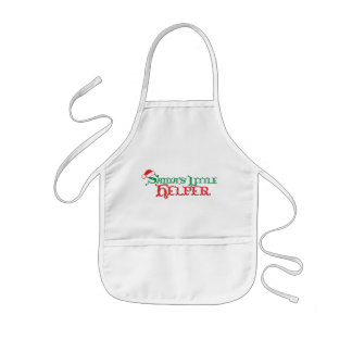 Santa's little helper Christmas kids cooks apron
