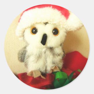 Santa's Little Helper Classic Round Sticker