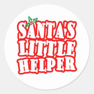 Santas Little Helper Classic Round Sticker