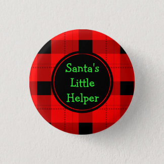 Santas little helper  Custom Round Button
