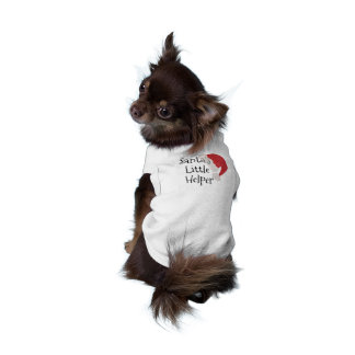 Santa's Little Helper Cute Christmas Dog Shirt