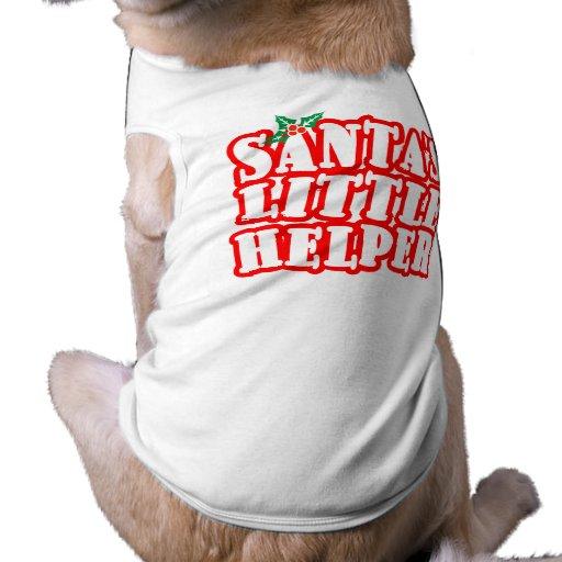 Santas Little Helper Doggie T Shirt