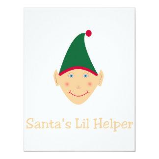 Santa's little helper. Elf Christmas gifts & tees. Card