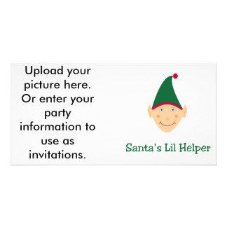 Santa's little helper. Elf Christmas gifts & tees. Photo Card
