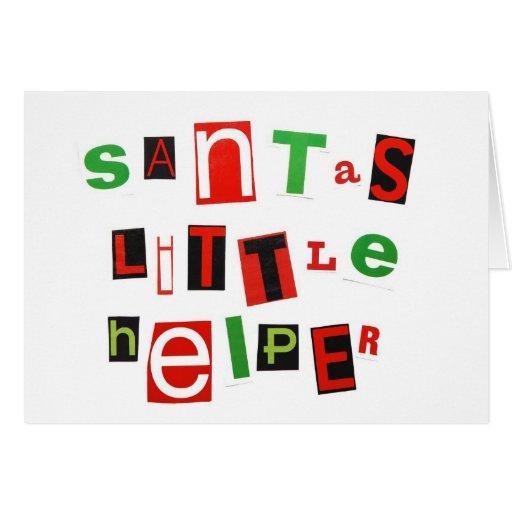 Santa's Little Helper Greeting Cards