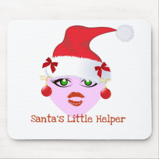 SANTA'S LITTLE HELPER HOLIDAY ELF PRINT MOUSE PAD
