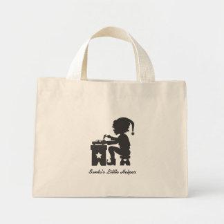 Santa's Little Helper Mini Tote Bag
