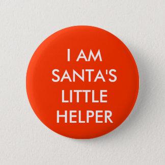 Santa's Little Helper Pinback Button