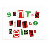 Santa's Little Helper Post Card