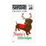 santas little helper postage stamp
