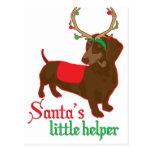 santas little helper postcard