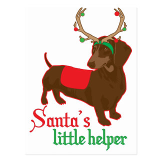 santas little helper postcard