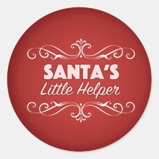 Santa's little helper stickers