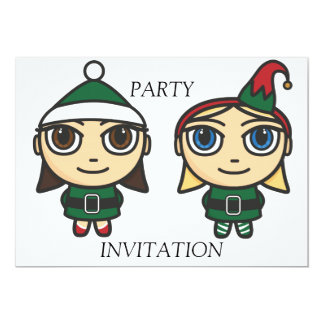 Santas Little Helpers Party Invitation