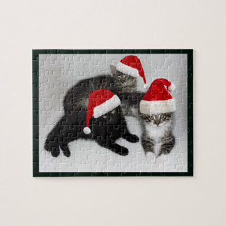 Santa's Little Kitten Helpers Christmas Puzzle