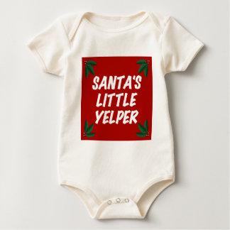 Santa's Little Yelper Baby Bodysuit
