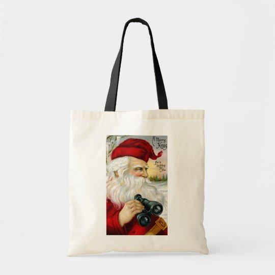 Santa's Looking at You Tote Bag
